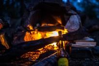 Stenovnen her blev anvendt til den første rådyrspizza. Desværre var rækkefølgen i opvarmningen forkert. Den midterste sten blev lagt ind først og bålet tændt. Det bevirkede at midter stenen blev afsindig varm og brændte pizzaen i bunden, før toppen og siderne blev varme og kunne bage den oppe fra. Deraf nr. 2 i dutch-oven.