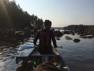 Her den første og eneste rigtige forhindring. Der var en del der gik på grund - godt man ikke er kanoudlejer.
