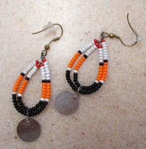 Looped Beaded Earrings