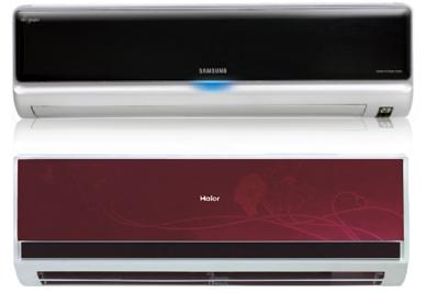 Top image- Samsung Split AC, bottom one is Haier