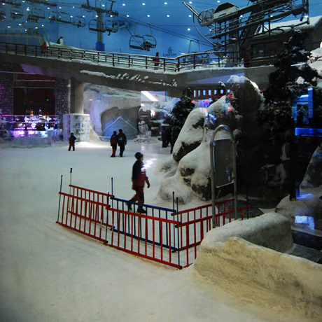 Skiing at Dubai Mall