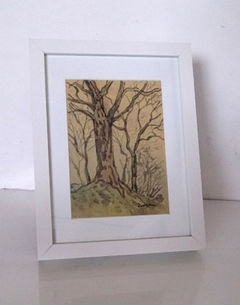 framed trees painting. (628x800)
