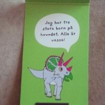 Triceratops Bookmark