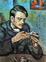 Pablo Picasso blue period, portrait of Mateu Fernandez de Soto