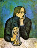 Pablo Picasso blue period, portrait of Jaime Sabartés