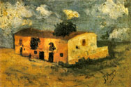 Painting of country house, La Conruña, 1893