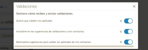 linkedin recursos - validaciones