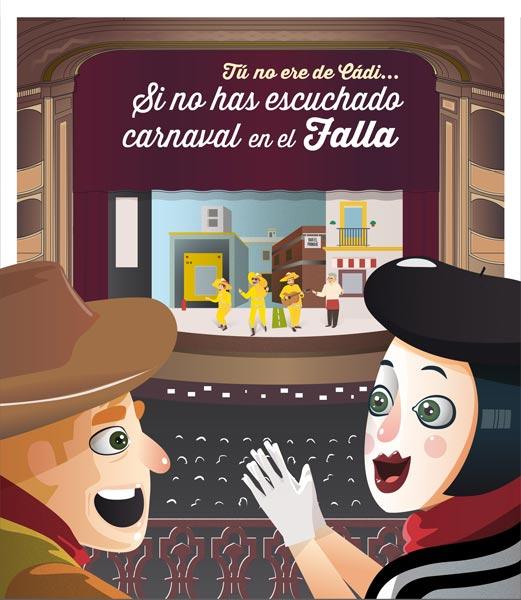 ilustración teatro falla Cádiz