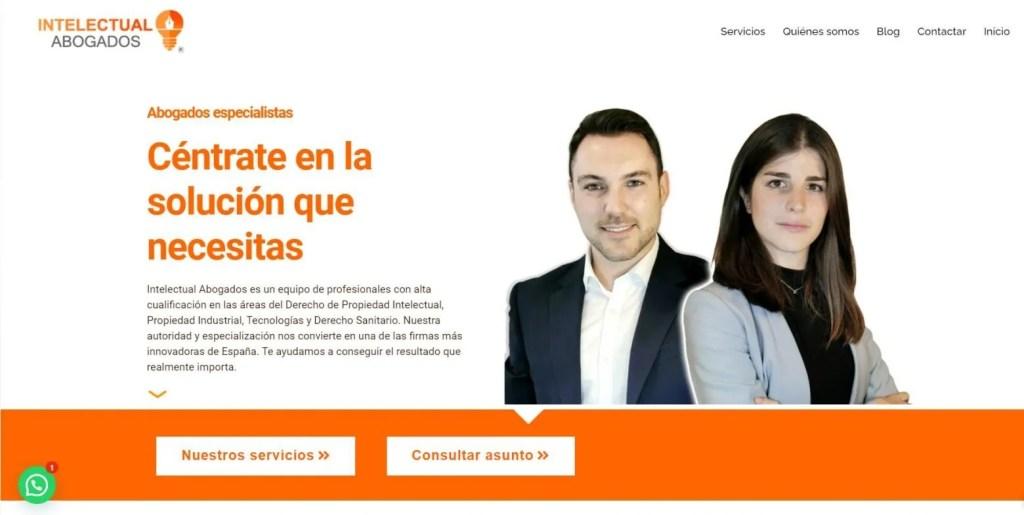 web abogados propiedad intelectual tecnologías salud negligencias médicas delitos informáticos