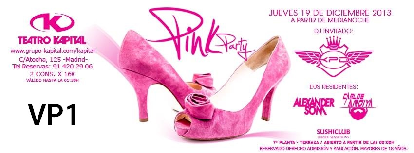 Pink party kapital jueves 19 diciembre pablorrpp for Kapital jueves gratis