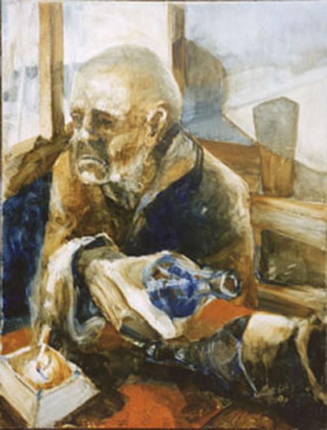 Anciano en el bar
