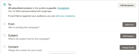 Configuración Email Maichimp