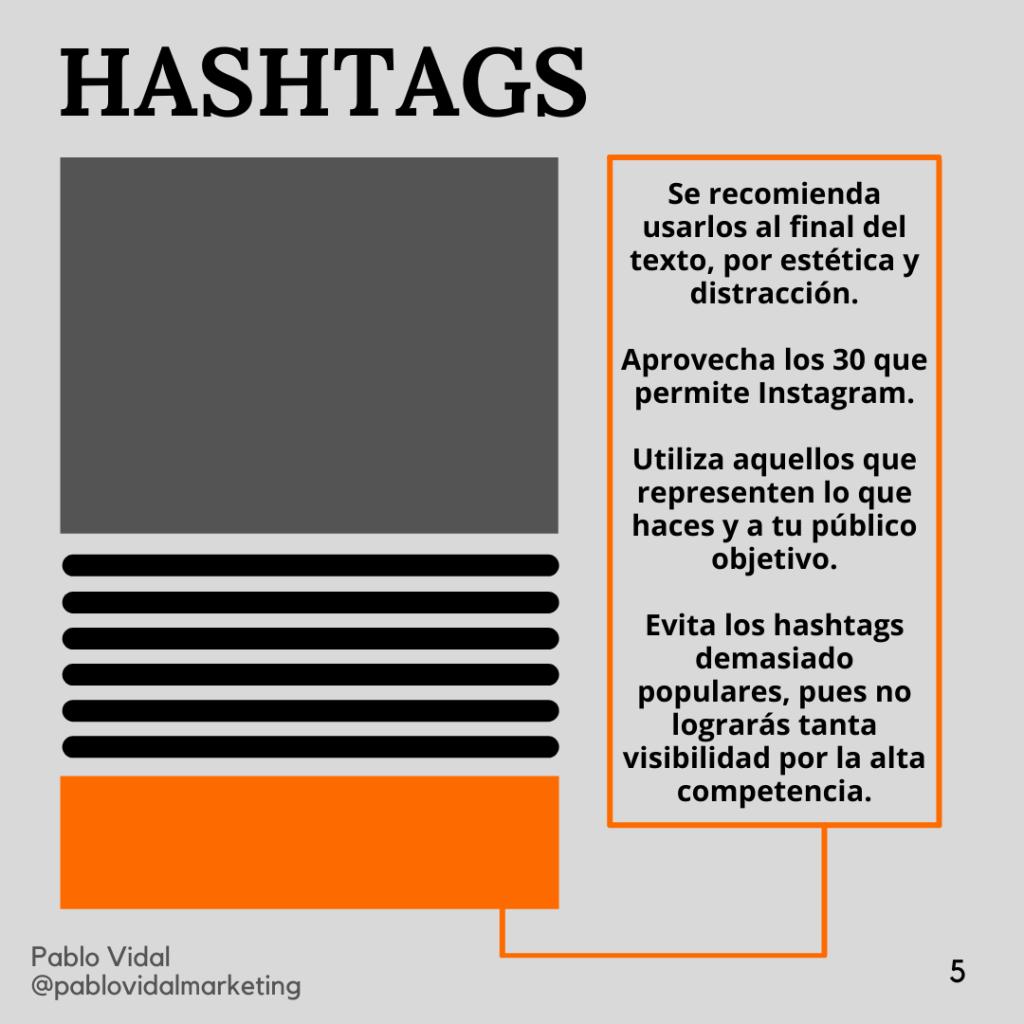 hashtags en Instagram post