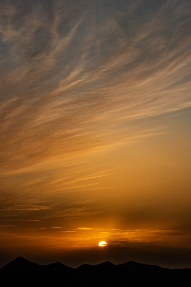 Puesta de sol en Famara
