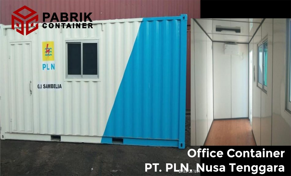 Jual office container bagus