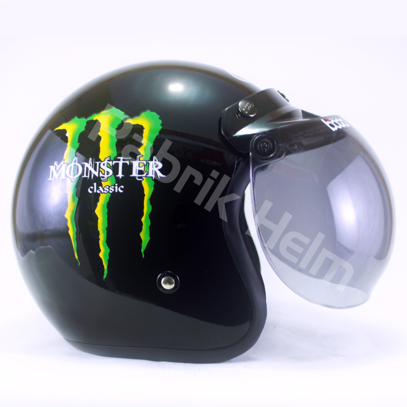 Helm JPN Retro Monster Classic Kaca Bogo  PabrikHelmcom