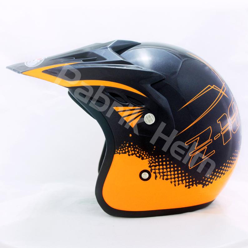 Helm JPN Cross PC18 Motif Z18 Gunmetal  PabrikHelmcom