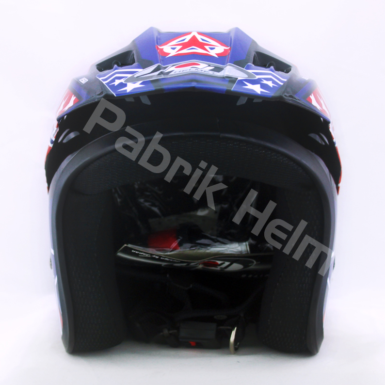Helm JPN Cross PC18 Motif Star Hitam  PabrikHelmcom Jual