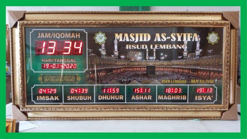Jadwal Sholat Digital Masjid untuk Rumah Sakit Daerah