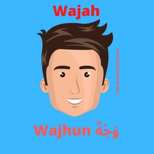 Wajhun artinya wajah bahasa arab