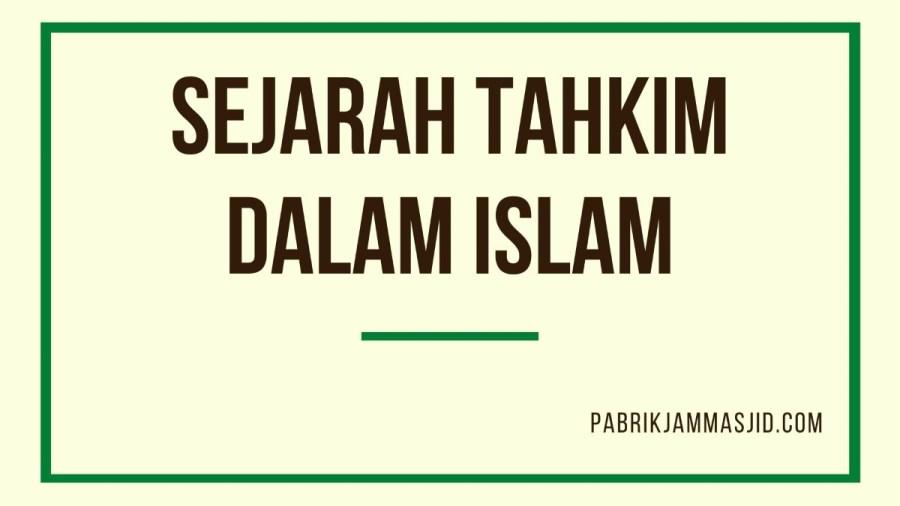 Sejarah Tahkim Dalam Islam