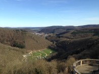 The view from the castle we were staying in