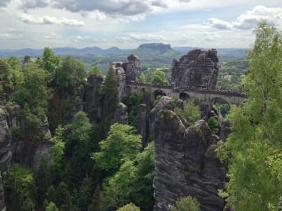 The Bastei Bridge, the quintessential image of Saxon Switzerland