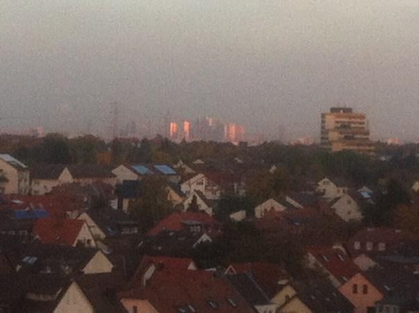 Blick von Hofheim nach Frankfurt