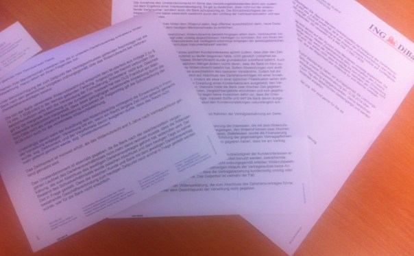 Brief der Ing DiBa