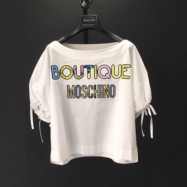 cuerpo popelin blanco moschino boutique