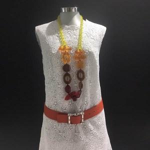 Vestido macramé algodón Ermanno Scervino