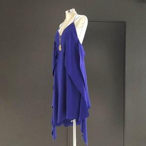 vestido seda azul klein lat