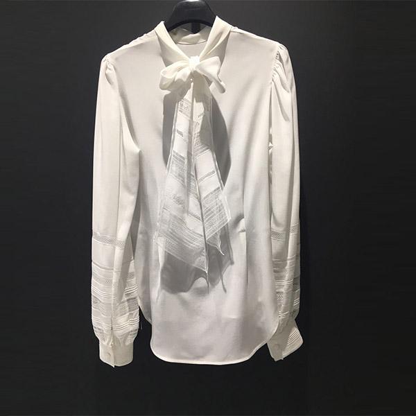 Camisa georgette encaje Ermanno Scervino