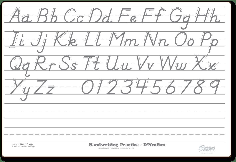 Dnealian Cursive Alphabet Printable