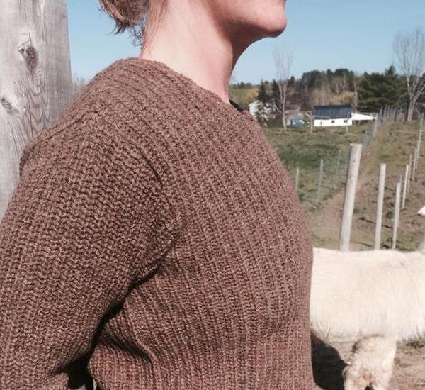Brown Rugged Abbott Farm Alpaca Sweater