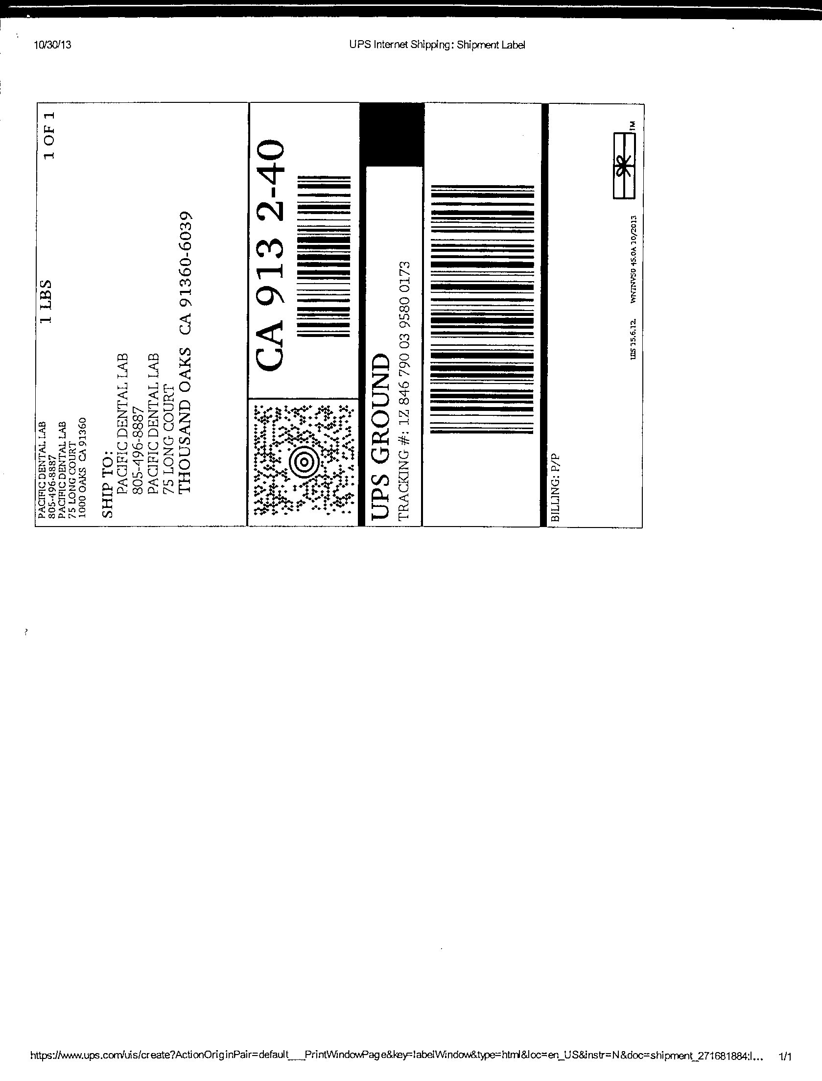 Request Shipping Labels Pacific Dental Lab