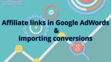 Photo of Affiliate links in Google AdWords and importing conversions