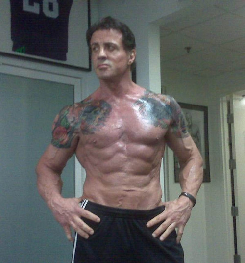 Sylvester Stallone Ripped Expendables