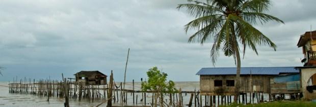 Fishing village close to Pontian