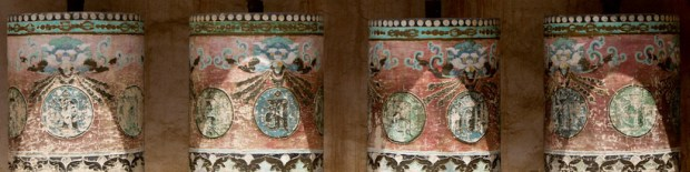 Prayer wheels in Ta'er monastery, Xining
