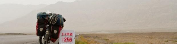 Towards Aksu, northern branch of the silk road