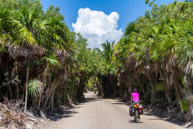 Tiphaine riding in Biospheric Reserve