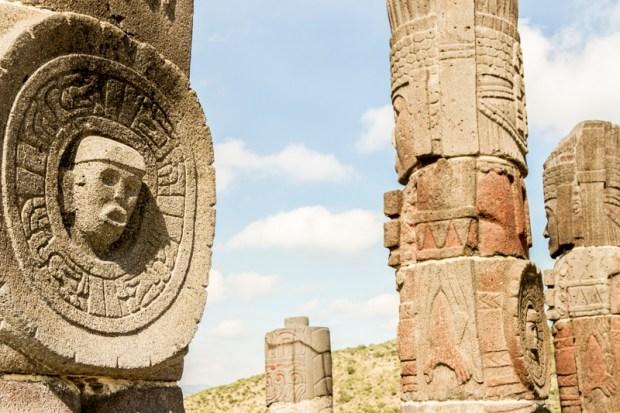 Stone sculptures in Tula de Allende