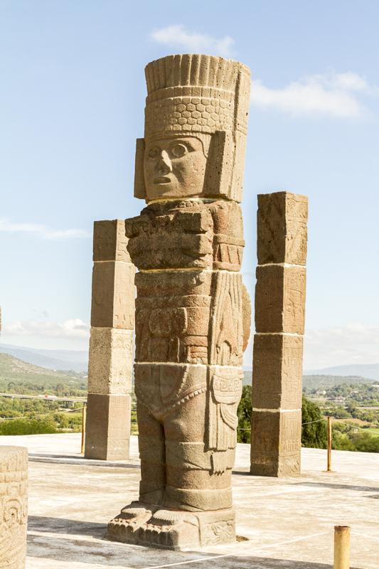 Atlantean Statue at Tula site