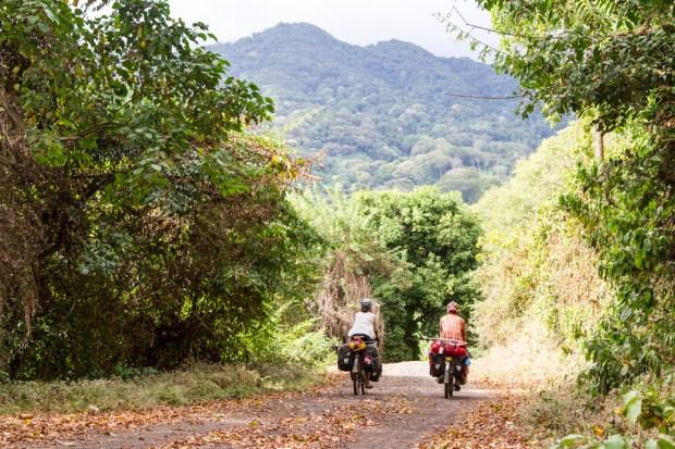 Riding on Ometepe Island