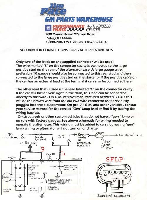 Gm Alternator Wiring : alternator, wiring, Serpentine, Alternator, Wiring