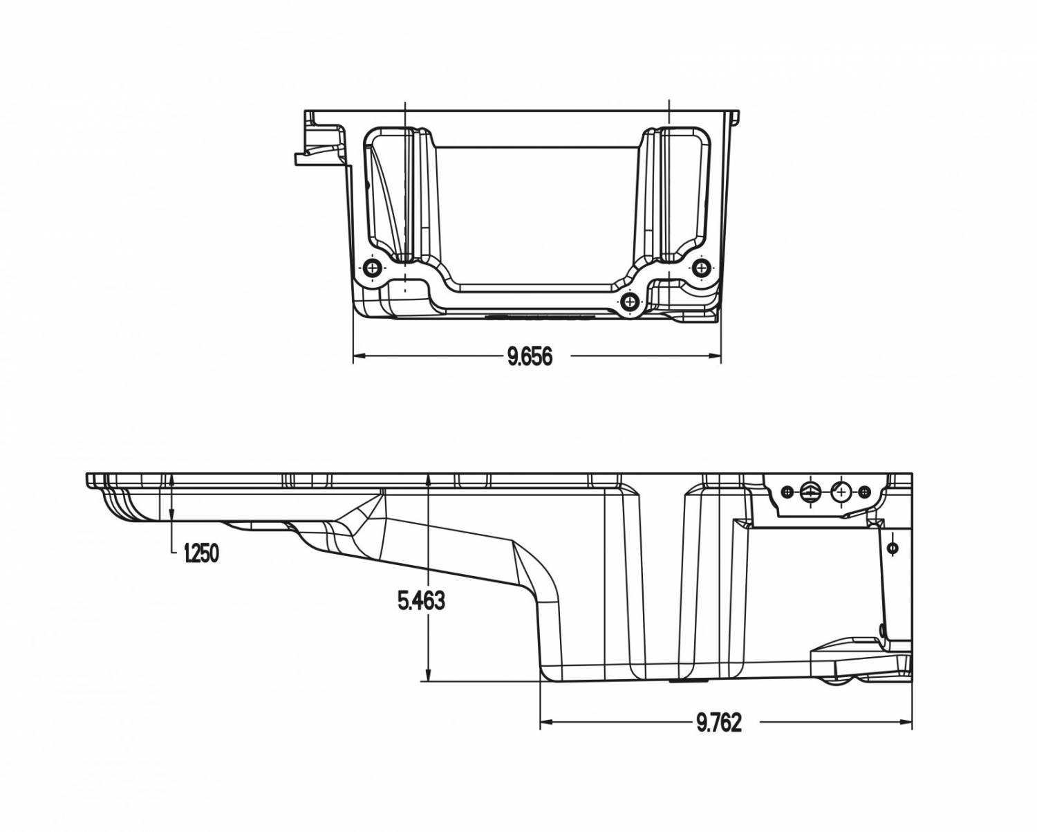 Gmp 302 2k Complete Low Profile Holley Ls Retro Fit Oil Pan Kit