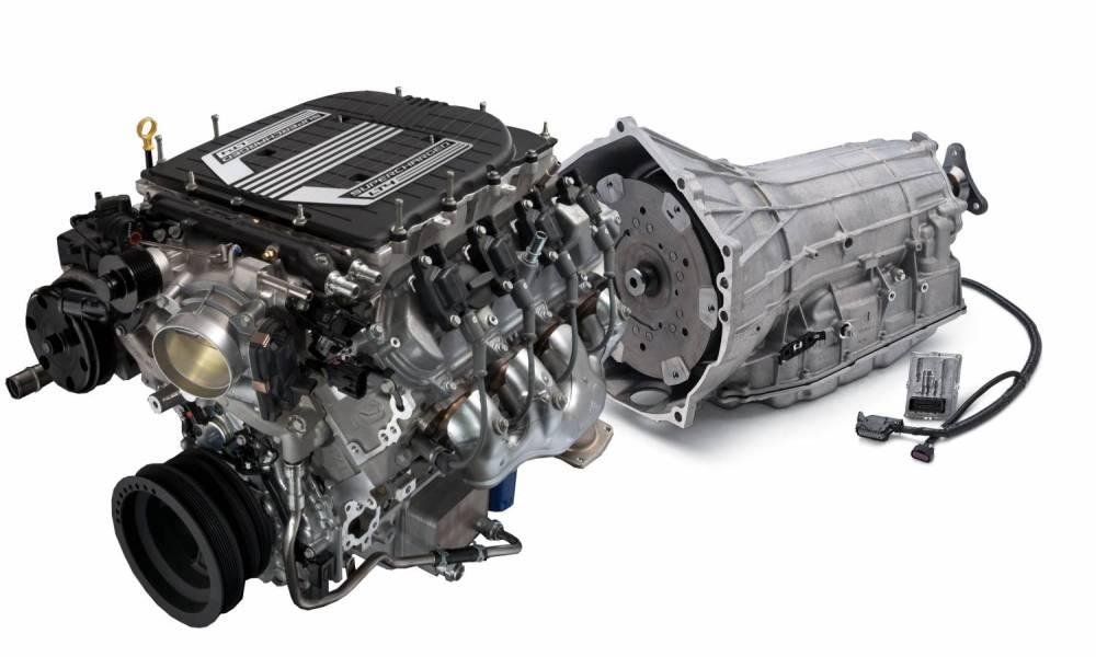 medium resolution of chevrolet performance parts cpslt4w8l90e gm lt4 640hp wet sump engine with 8l90e 8