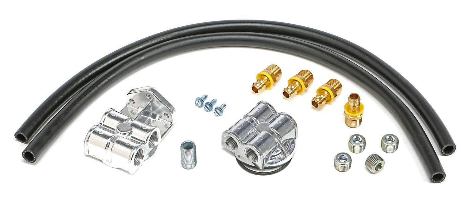 Single Oil Filter Relocation Kit Trans-Dapt Performance