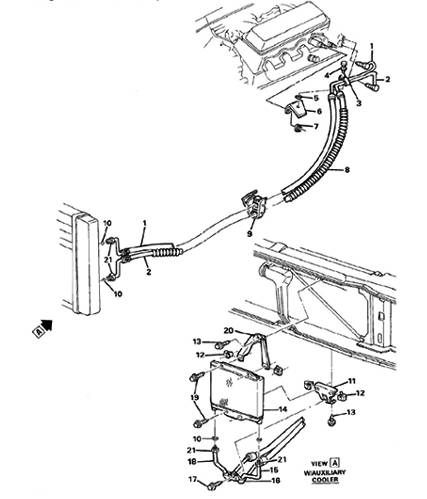 12472289-1988-1991 CK ENGINE OIL COOLER LINES (LH6/6.2C